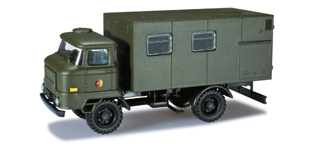 Herpa Minitanks 1/87 Ifa L60 East German Army Box Body Truck