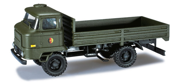 Herpa Minitanks 1/87 Iron Pig East Ifa L60 German Army Flatbed Truck