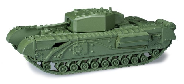 Herpa Minitanks 1/87 Churchill III Infantry Pz Mk IV Tank w/57mm Gun