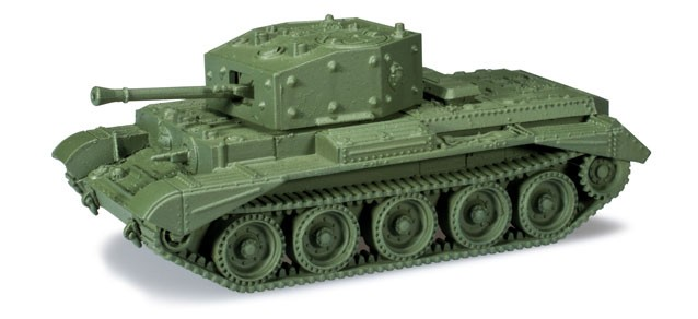 Herpa Minitanks 1/87 Cromwell IV KpfPz Mk VIII Tank w/75mm Kanone Gun