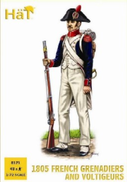 Hat 1/72 1805 French Grenadiers & Voltigeurs (48)