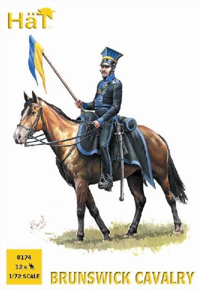 Hat 1/72 Napoleonic Brunswick Cavalry (12 Mtd) (Re-Issue)