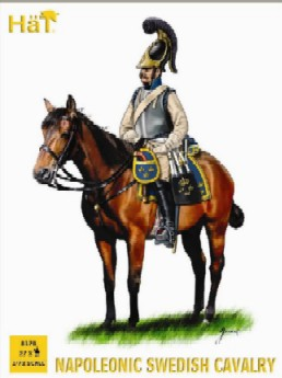 Hat 1/72 Napoleonic Swedish Cavalry & Horses (27)