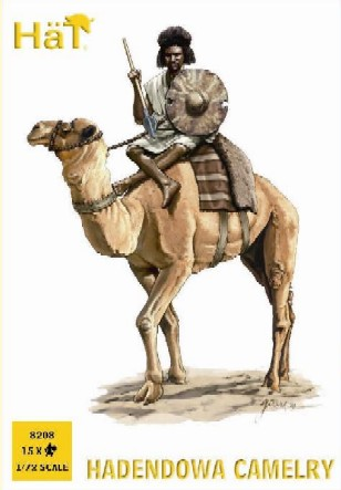 Hat 1/72 Colonial Wars Hadendowa Camelry (15 Figs & 12 Camels)