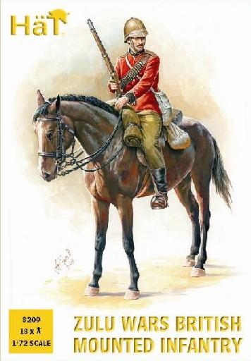 Hat 1/72 Zulu Wars British Infantry (18 & 12 Horses) (Re-Issue)