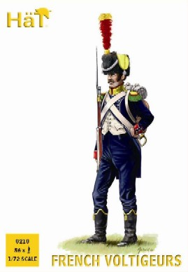 Hat 1/72 Napoleonic French Light Voltigeurs (56)