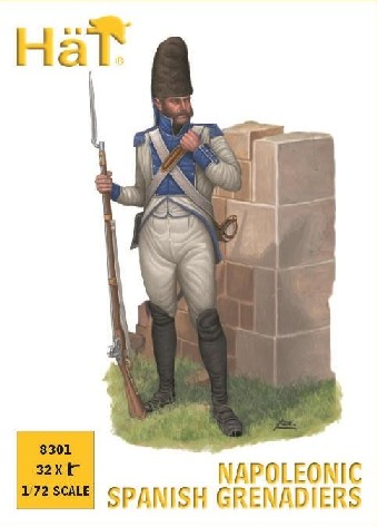 Hat 1/72 Napoleonic Spanish Grenadiers (32)
