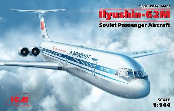 ICM Models 1/144 Ilyushin IL62M Soviet Passenger Airliner