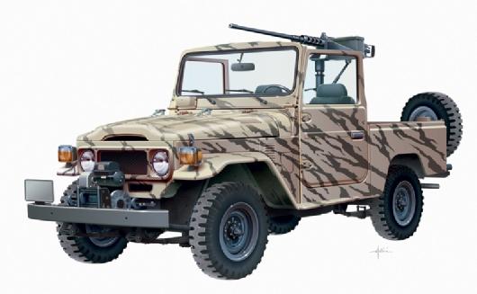 Italeri 1/24 Armed Pickup Jeep
