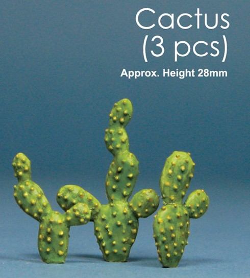 Js Work Models 1 Cactus (3pcs)  (Unpainted Resin)