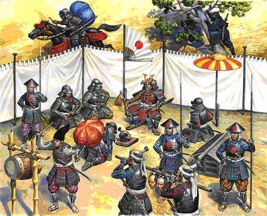 Image 0 of Zvezda 1/72 Samurai Army Head-quarters Staff XVI-XVII AD (28)