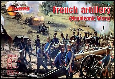 Mars Figures 1/72 Napoleonic War French Artillery (16 w/4 Guns)