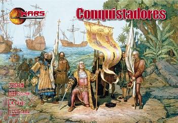 Mars Figures 1/72 Conquistadores (30, 4 Dogs)