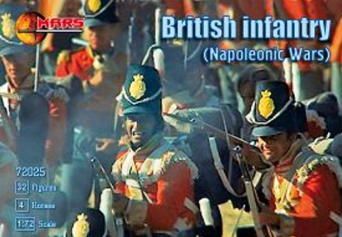 Mars Figures 1/72 Napoleonic War British Infantry (32 w/4 Horses)
