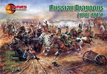 Mars Figures 1/72 Napoleonic War 1812-15 Russian Dragoons (12 Mtd)