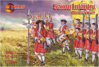 Mars Figures 1/72 Northern War Saxon Infantry (56)