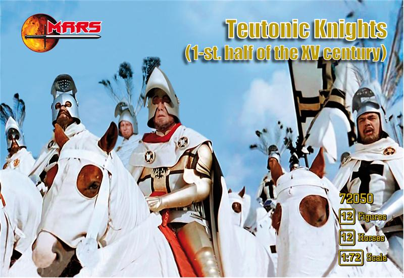 Mars Figures 1/72 1st Half XV Century Teutonic Knights (12 Mtd)