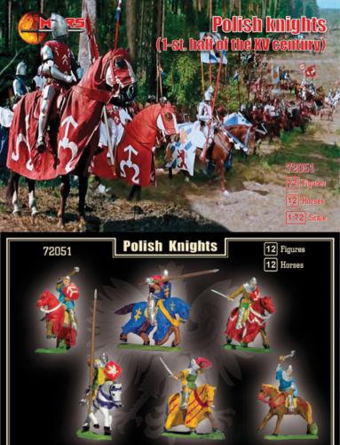 Mars Figures 1/72 1st Half XV Century Polish Knights (12 Mtd)