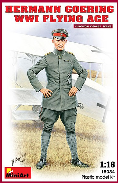 Miniart Models 1/16 Hermann Goering WWI Flying Ace