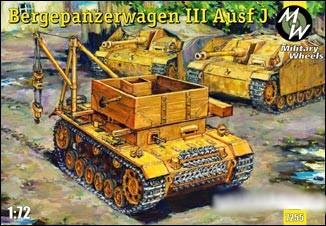 Military Wheels Models 1/72 Bergepanzerwagen III Ausf J Tank