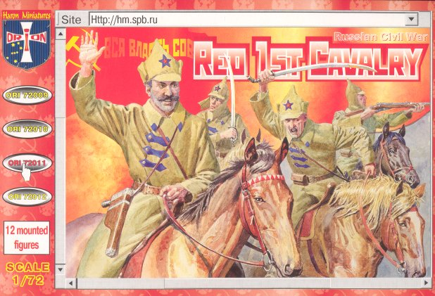 Orion Figures 1/72 Red 1st Cavalry Russian Civil War 1918 (12 Mtd)