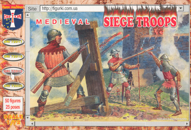 Orion Figures 1/72 Medieval Siege Troops (50)