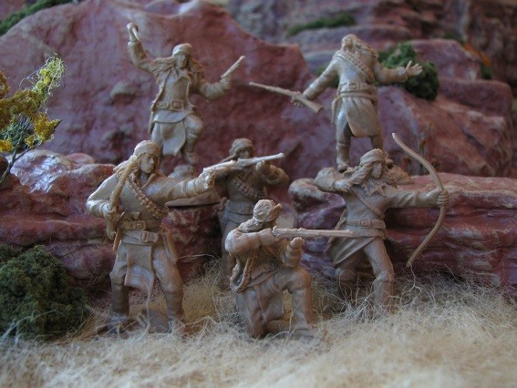 Image 0 of Paragon Miniatures 1/32 Apache Indians The Last Stand Figure Set #1 (12) (Boxed)