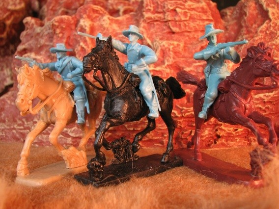 Image 0 of Paragon Miniatures 1/32 US Cavalry Mounted w/Horses Figure Set #3 (12) (Bagged)