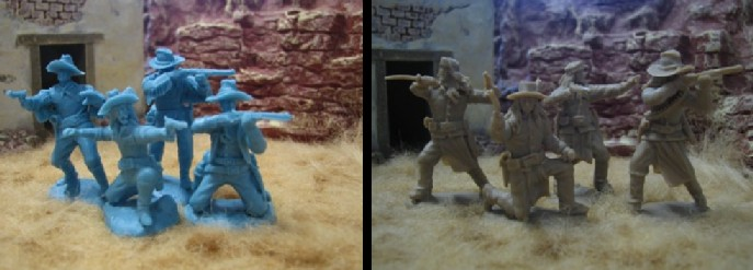 Image 0 of Paragon Miniatures 1/32 US Cavalry & Apache Scouts Figure Set #4 (8) (Blister Ca