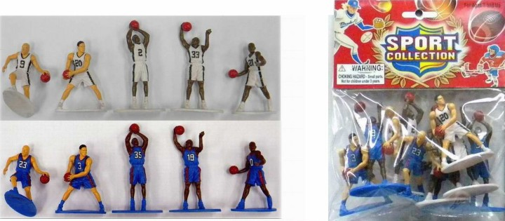 Basketball Action Figure Playset White & Blue Figures Set 101