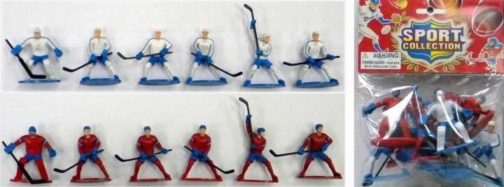 Plastic Hockey Action Figures Playset