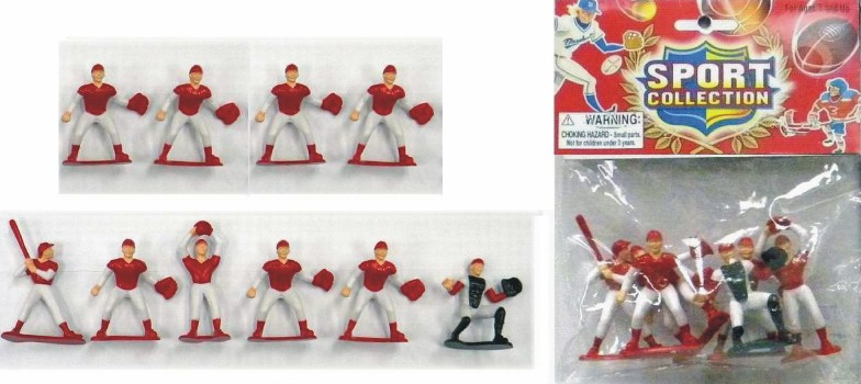 Plastic Baseball Action Figures Playset