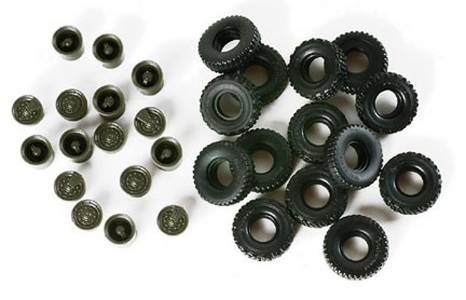 Herpa Minitanks 1/87 5-Ton US Army Truck Rubber Tires w/Hubs (14)