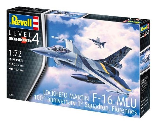 Revell of Germany 1/72 F16 MLU 100th Anniversary Combat Aircraft