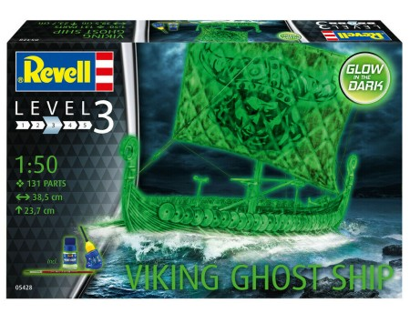 Revell of Germany 1/50 Viking Ghost Ship w/Glow-in-the-dark paint