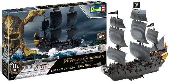 Revell of Germany 1/150 Disney Pirates of the Caribbean Black Pearl Ship (Snap)
