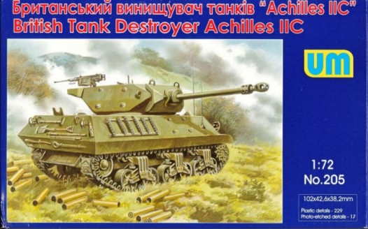 Unimodels Plastic Model Kit 1/72 Achilles IIC British Tank Destroyer