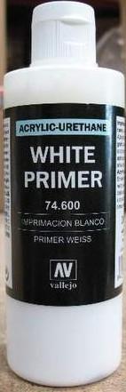 Vallejo Paints 200ml Bottle White Primer