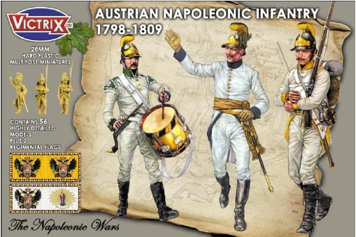 Victrix LTD Figures 28mm Austrian Napoleonic Infantry 1798-1809 (56)