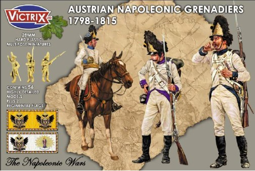 Victrix LTD Figures 28mm Austrian Napoleonic Grenadiers 1798-1815 (56)