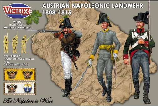 Victrix LTD Figures 28mm Austrian Napoleonic Landwehr 1808-1815 (56)