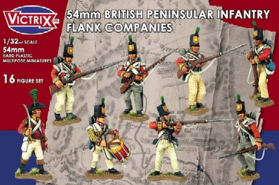 Victrix LTD Figures 54mm British Peninsular Infantry Flank Companies (16)