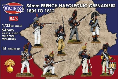 Victrix LTD Figures 54mm French Napoleonic Grenadiers 1805-1812 (16)