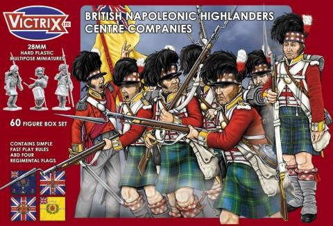 Victrix LTD Figures 28mm British Napoleonic Highlanders Centre Companies (60)