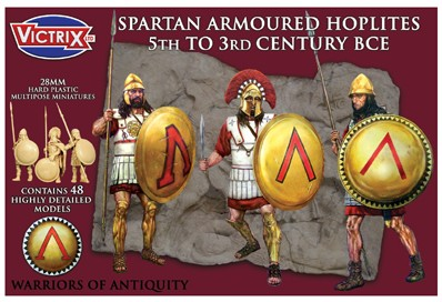 Victrix LTD Figures 28mm Spartan Armored Hoplites 5th-3rd Century BCE (48)