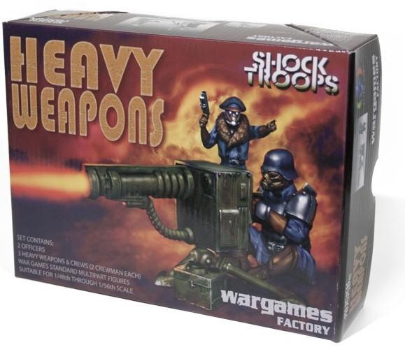Wargames Factory 28mm Alien Suns: Greatcoat Shock Troopers w/Heavy Weapons (12)