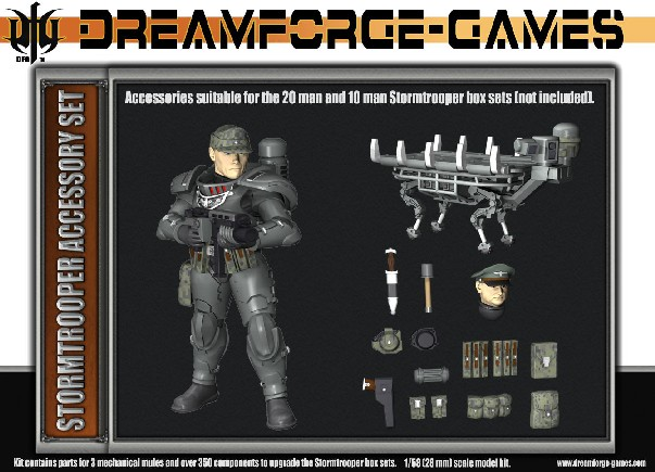 Wargames Factory 28mm Dream Forge Games: Eisenkern Stormtrooper Accessory Set