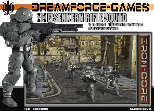 Wargames Factory 28mm Dream Forge Games: Eisenkern Stormtrooper Rifle Squad (10)