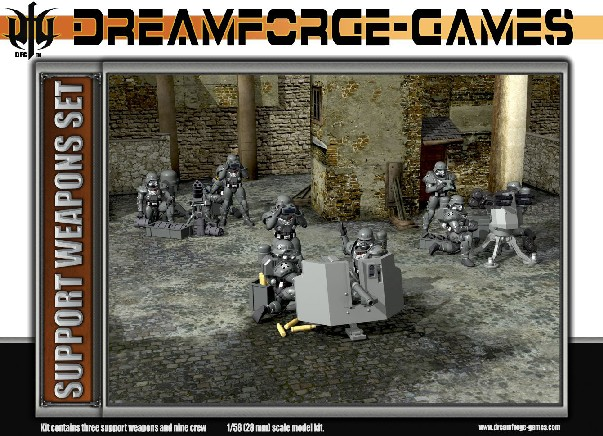 Wargames Factory 28mm Dream Forge Games: Eisenkern Stormtroopers Heavy Weapons