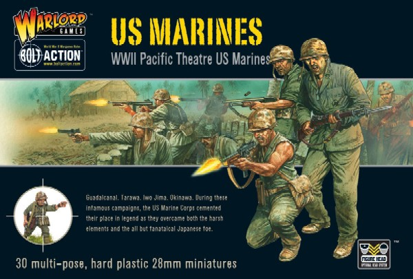 Warlord Games 28mm Bolt Action: WWII US Pacific Theatre Marines (30) (Plastic)